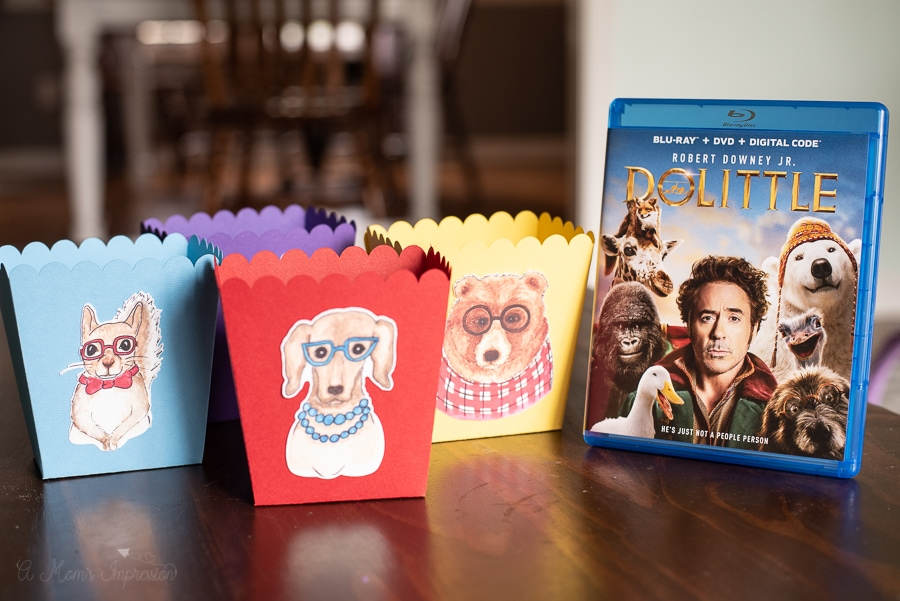 treat boxes with animals on the front next to the dolittle dvd