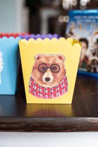 A bear treat box sitting on a table