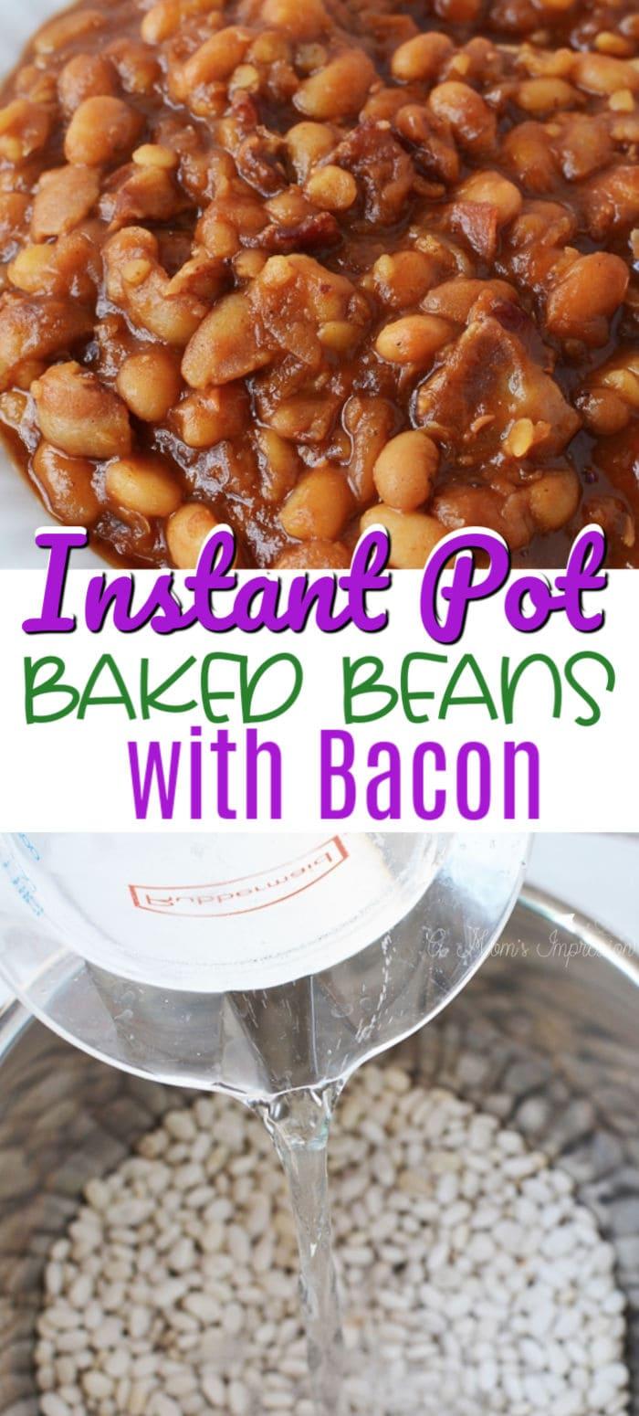 Instant Pot baked beans pinterest image