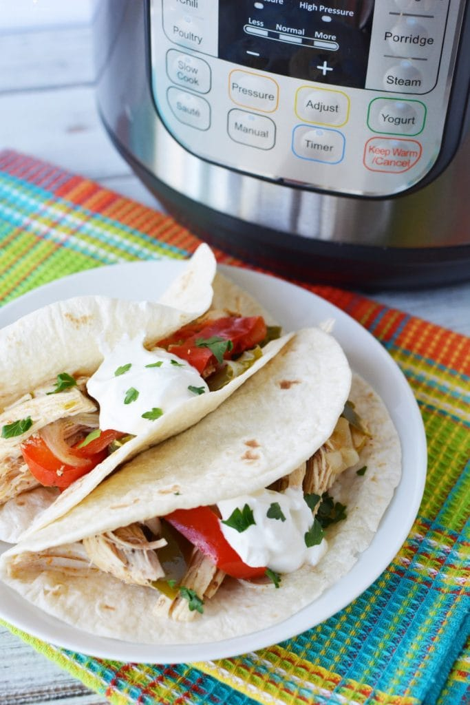 Chicken Fajitas Instant Pot is a fun tex mex meal for the whole family.