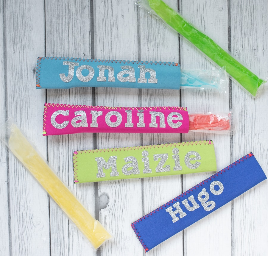custom Cricut Popsicle Koozies