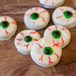 Oreo Eyeballs being served for fun Halloween Treats.