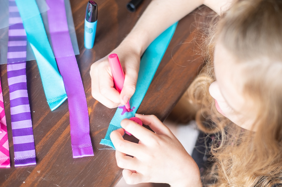 making custom hair extensions with markers