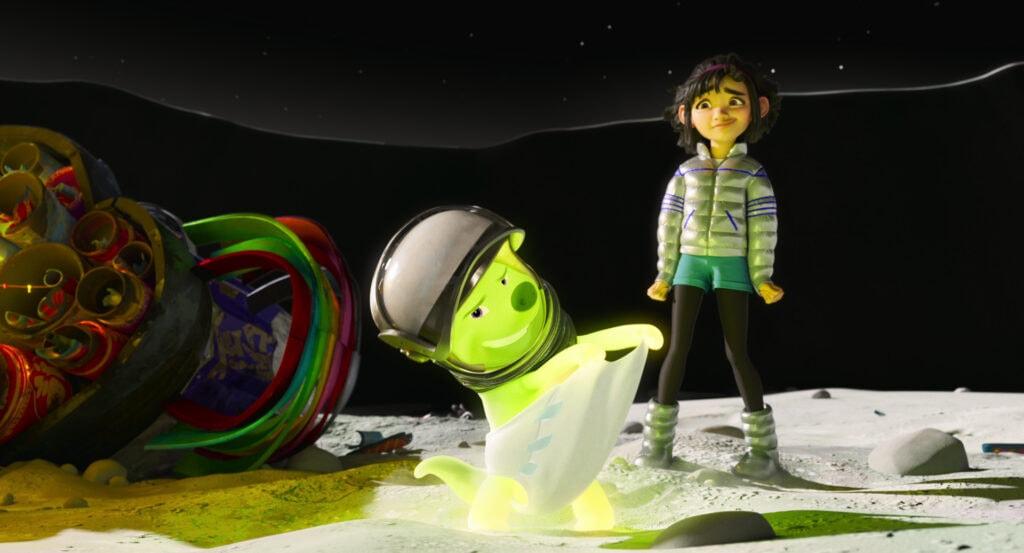Gobi and Fei Fei in Over the Moon