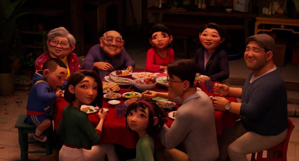 Fei Fei's family in Over the Moon