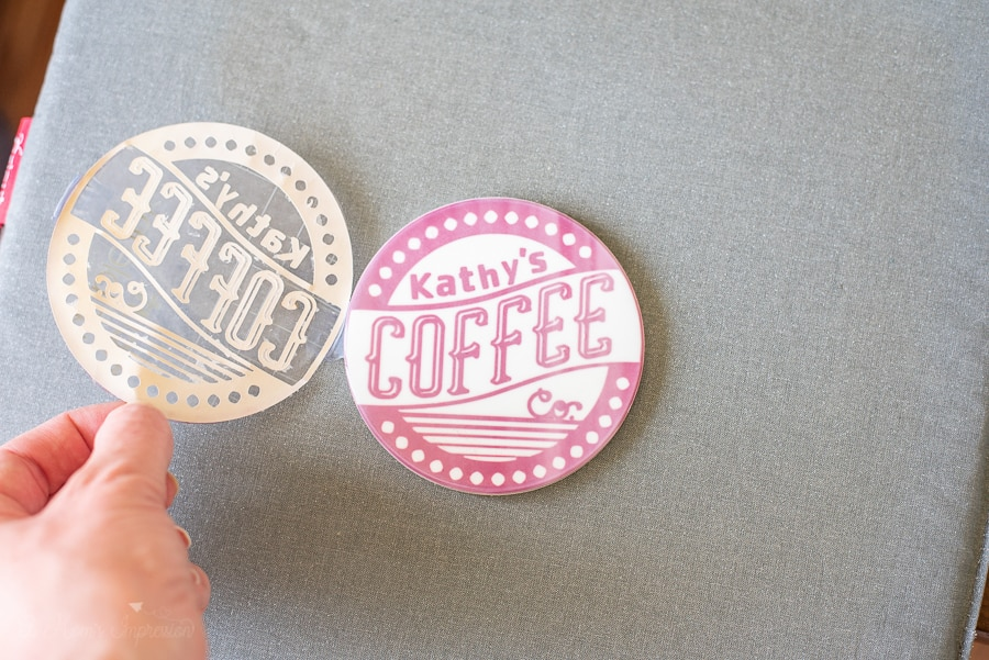 a DIY coffee coaster