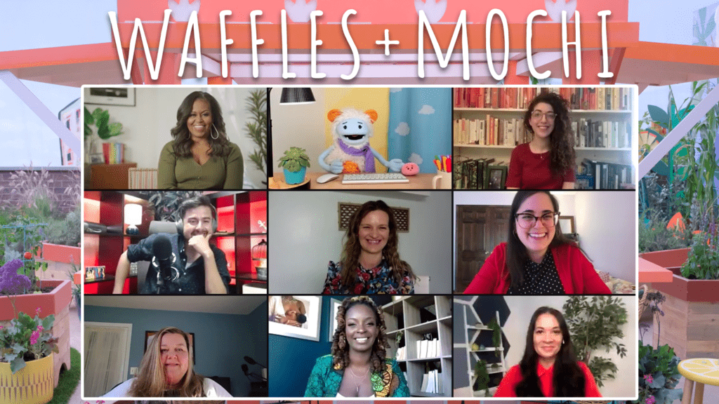 michelle obama interview with waffles and mochi and parenting bloggers