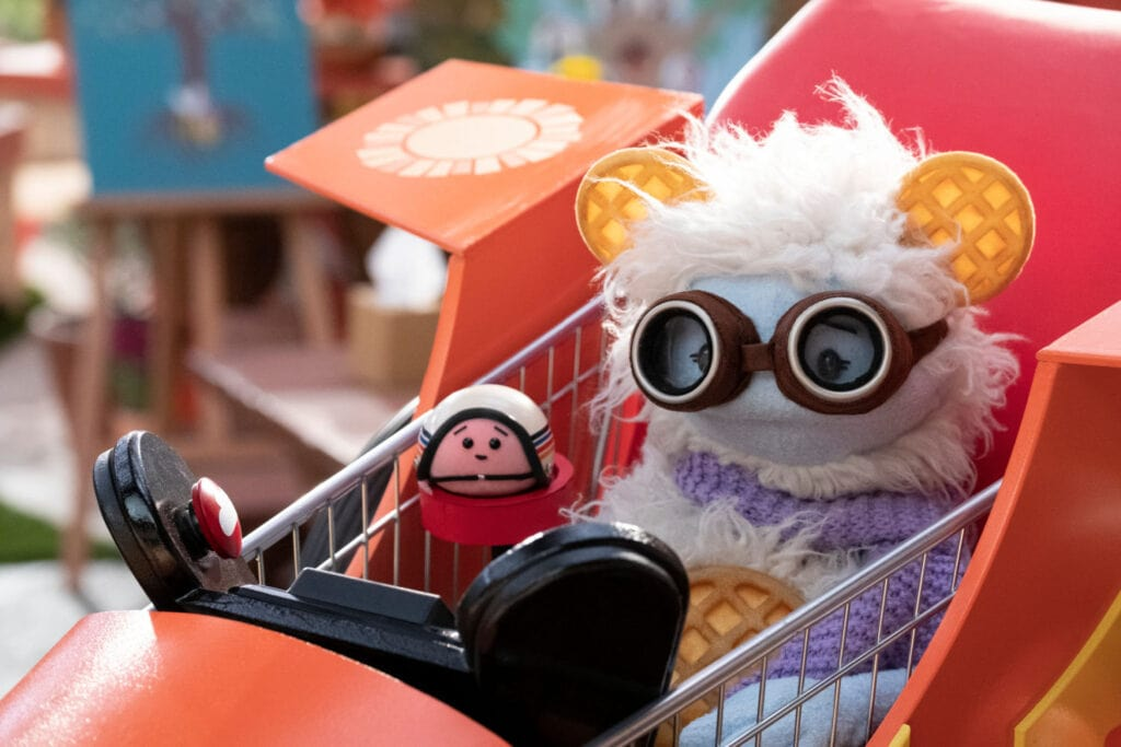 waffles and mochi in shopping cart