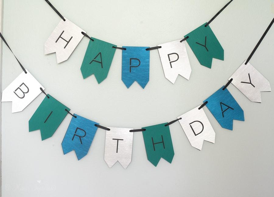 Dog birthday banner on Cricut design space