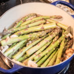 cooking asparagus on the stovetop