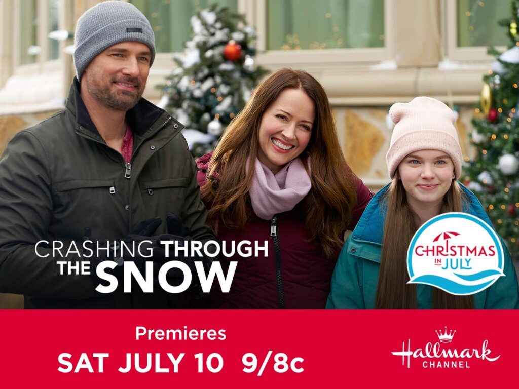 promotional image for Hallmark Channels Crashing through the snow