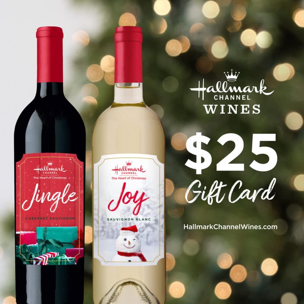 hallmark wines bottles with $25 gift card